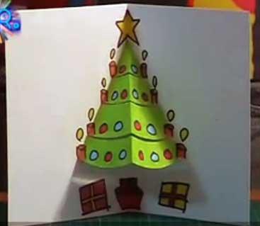 haz un rbol de navidad troquelado para tarjetas