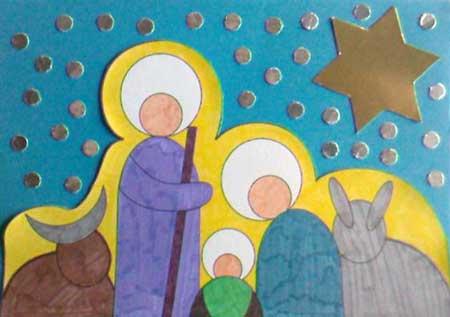 Tarjeta navide a para los m s peques el blog de navidad - Tarjetas de navidad hechas por ninos ...