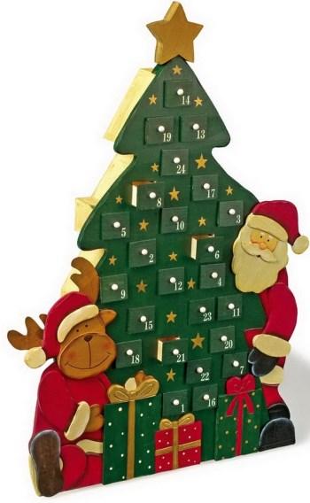 Calendarios de adviento para comprar el blog de navidad - Calendario adviento madera ...