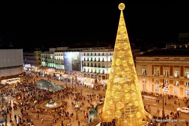 Arbol Navidad Madrid 2013 Sol