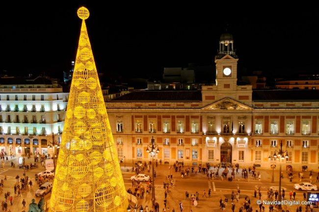 Arbol y Reloj Puerta del Sol 2013