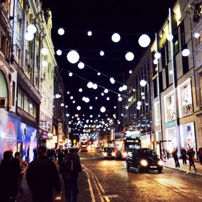 Luces Navidad en Oxford St. (Londres, UK) por Stuff n Nonsense en Flickr