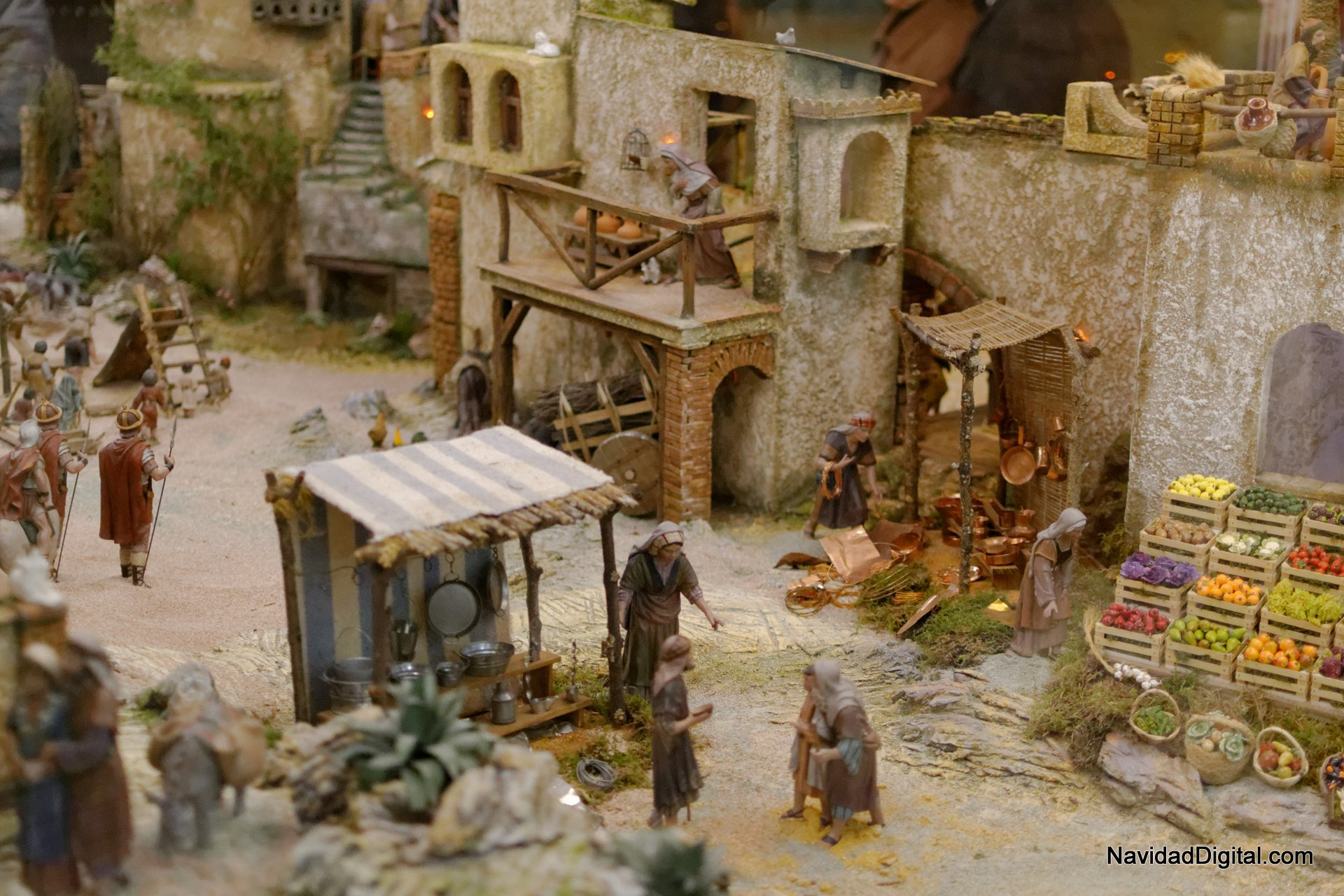 Belén de la Plaza de Salvador Dalí (Madrid, 2013)  El blog de Navidad Digital